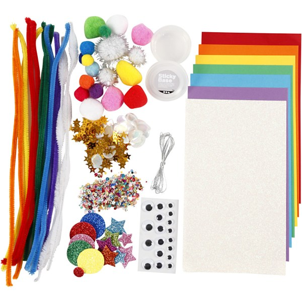 knutselpakket hobbymaterialen regenboog