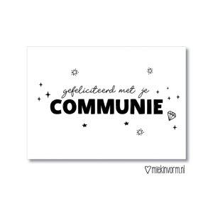 kaart communie