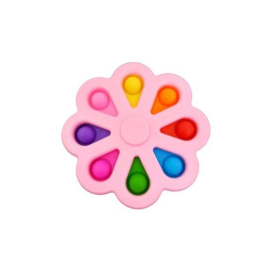 spinner en pop it in 1 roze