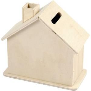 houten spaarpot huis