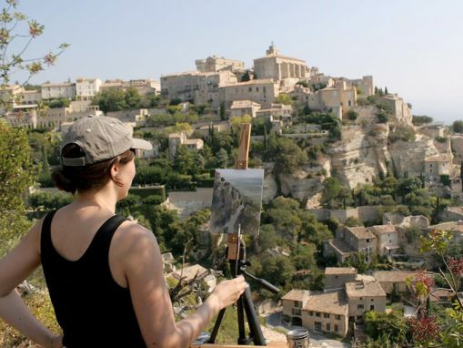 Painting in Gordes