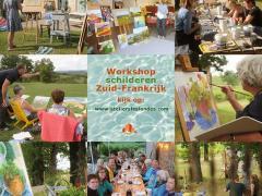 workshop Schilderen in de schilderachtige omgeving van de Tarn