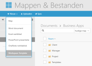 Templates uit SharePoint in Workspace 365