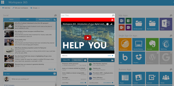 Web content (iFrame) live tile