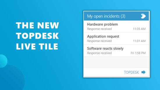 TOPdesk live tile Workspace 365