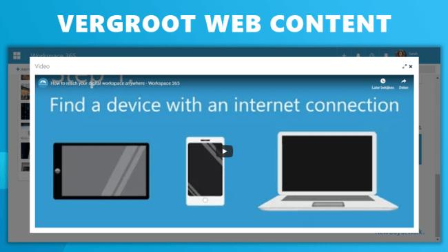 Vergroot web content Workspace 365