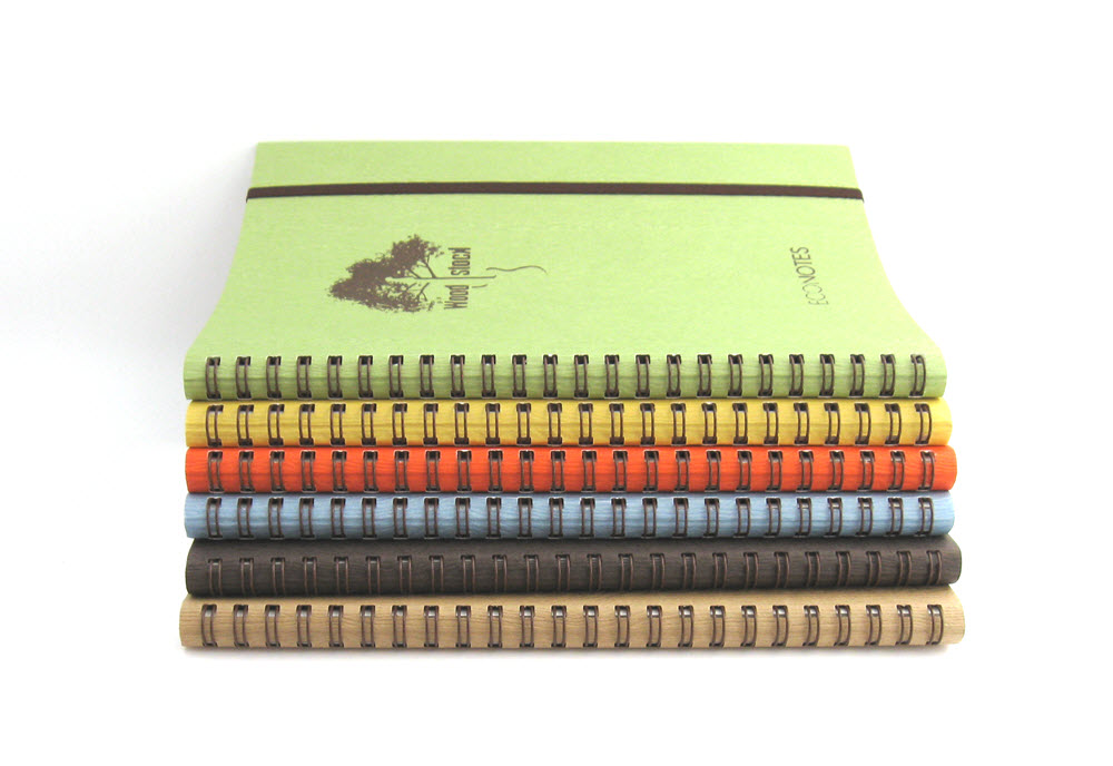 EcoNotes Woodstock notesbog med spiralryg