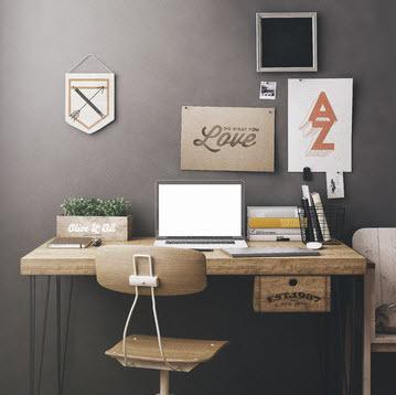 Den personlige arbejdsplads med notesbog