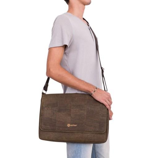 Bæredygtig Messenger Bag i kork