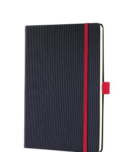 A5 notesbog med rød elastik