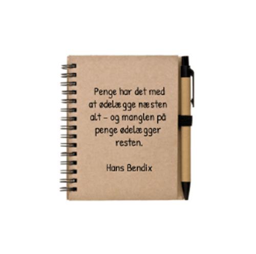 Notesbog med eget design