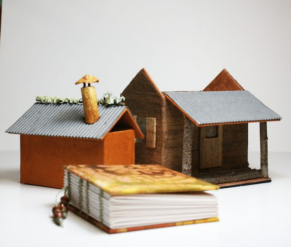 Little Book House Cabin - detail - by Susi Hall