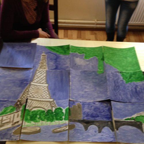 pictura arta team building