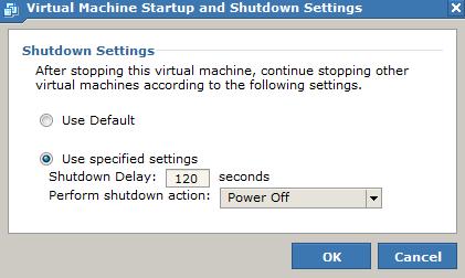 VMware vSphere起動用の設定
