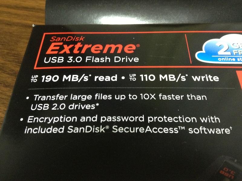 Sundisk Extream 32GB パッケージ