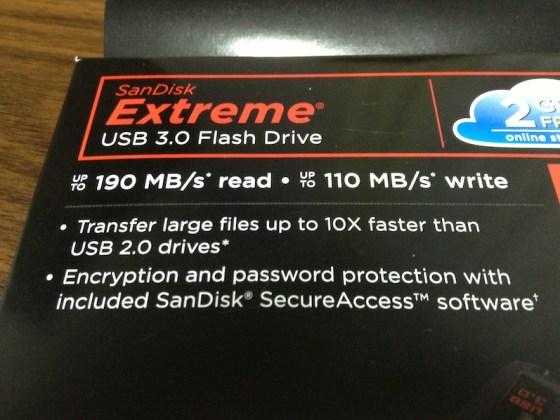 Sandisk Extream 32GB パッケージ