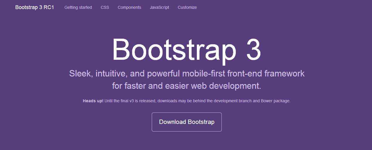 Bootstrap3.0 RC1