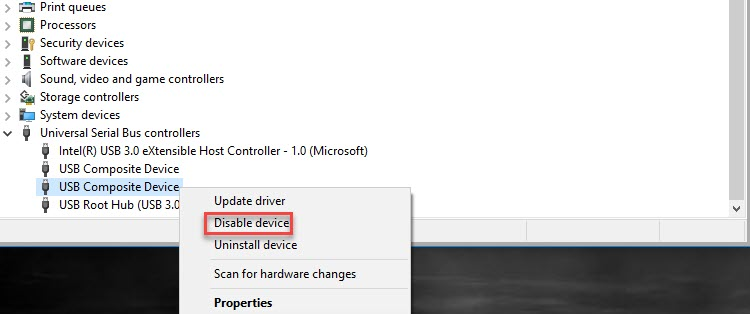 Disable USB Ports in Windows 10