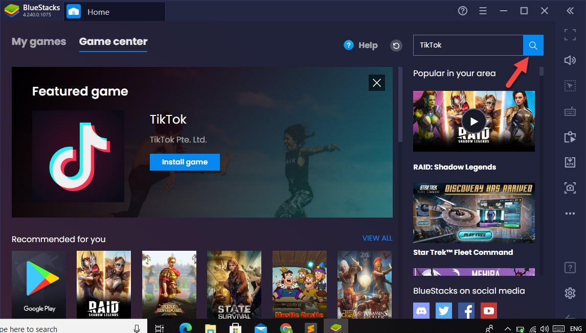 Download and Install TikTok on PC