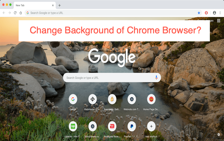 How to Set Custom Background Image on Chrome in Windows 10