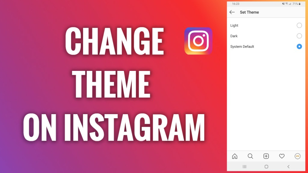 How to Change the Theme of Instagram