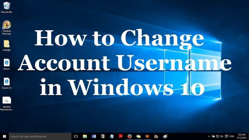 How to Change Windows 10 Account Username