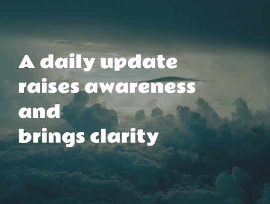 Increase your visibility through daily updates