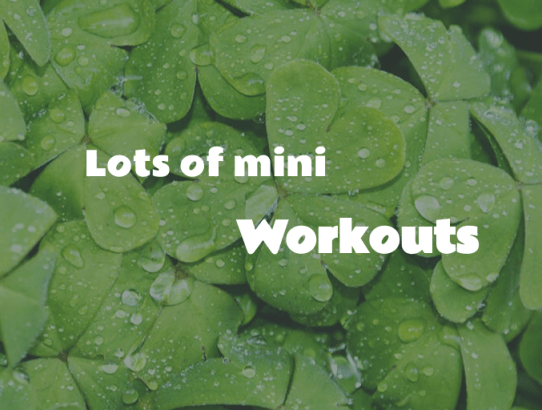 Lots of mini workouts