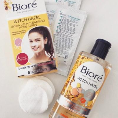 Treating my skin with Witch Hazel by Bioré