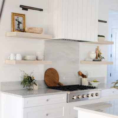 5 Items to Style Simple Open Kitchen Shelving