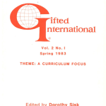 Gifted International Volume 2, Number 1 Journal Cover