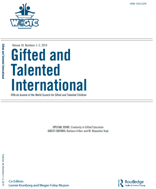 Gifted and Talented International Volume 34 - Special Issue on Creativity in Gifted Education
