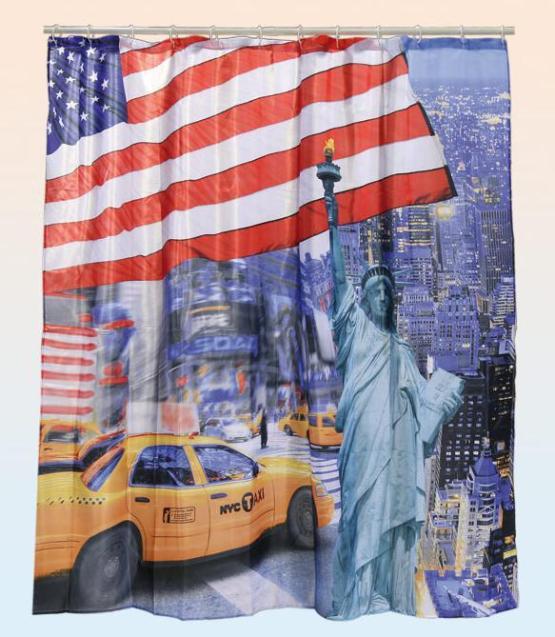 Resultado de imagen para cortina de baño bandera