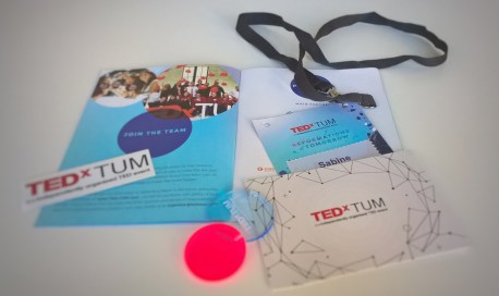 Pass and flyer about the event by TEDxTUM