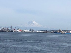 The Best of Seattle in Just Two Days:  View of Mount Ranier from the Argosy