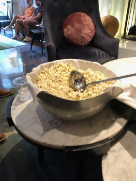 Popcorn at the Kimpton wine hour