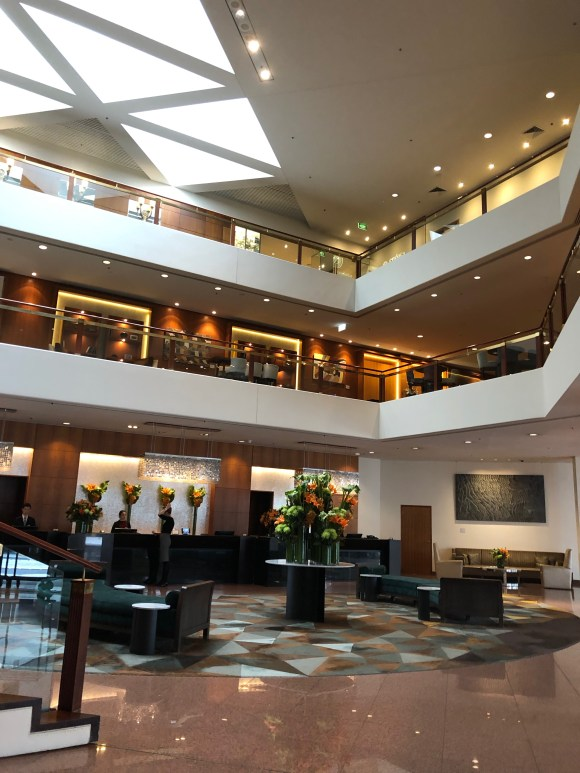 The Four Seasons Hotel Sydney: lobby seating and registration desk