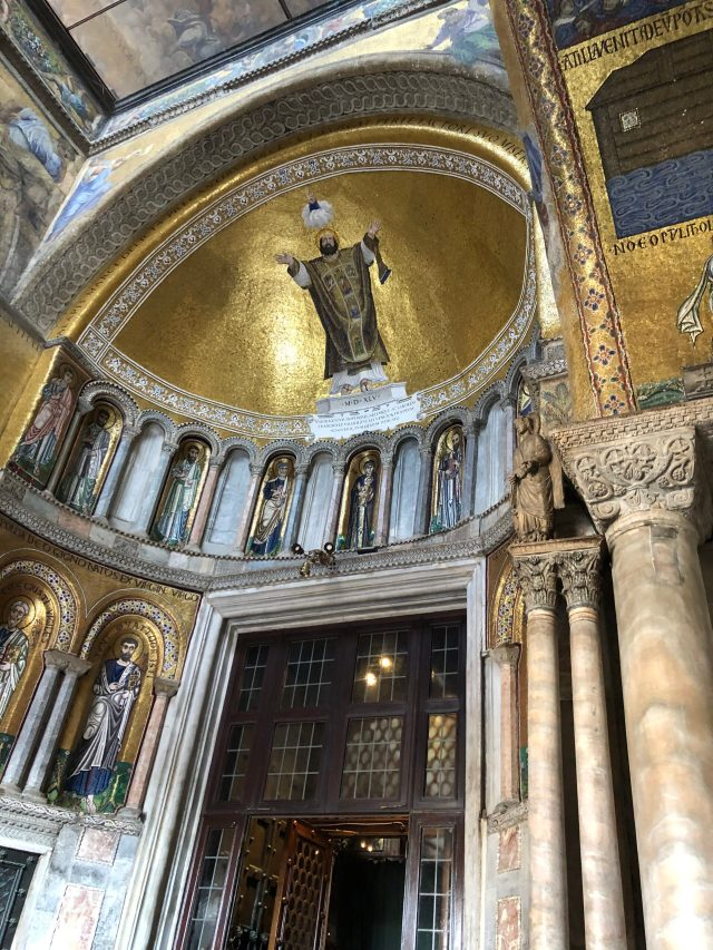 Best Things to Do in Venice:  The vestibule of St. Mark's Basilica