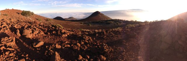 Best Things to Do on the Big Island:  Panorama of the Mauna Kea landscape near the Visitors Center