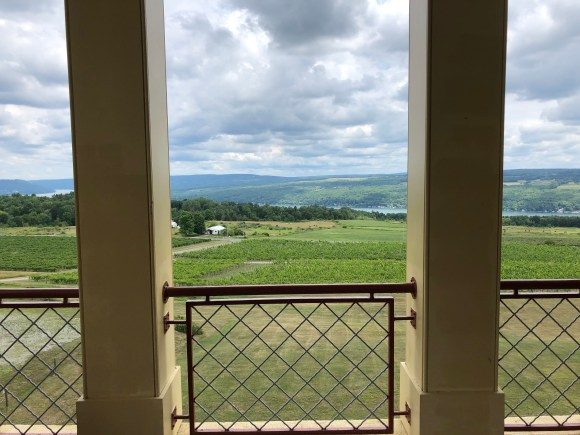 Finger Lakes Wine Tour:  View from the tower at Heron Hill Winery