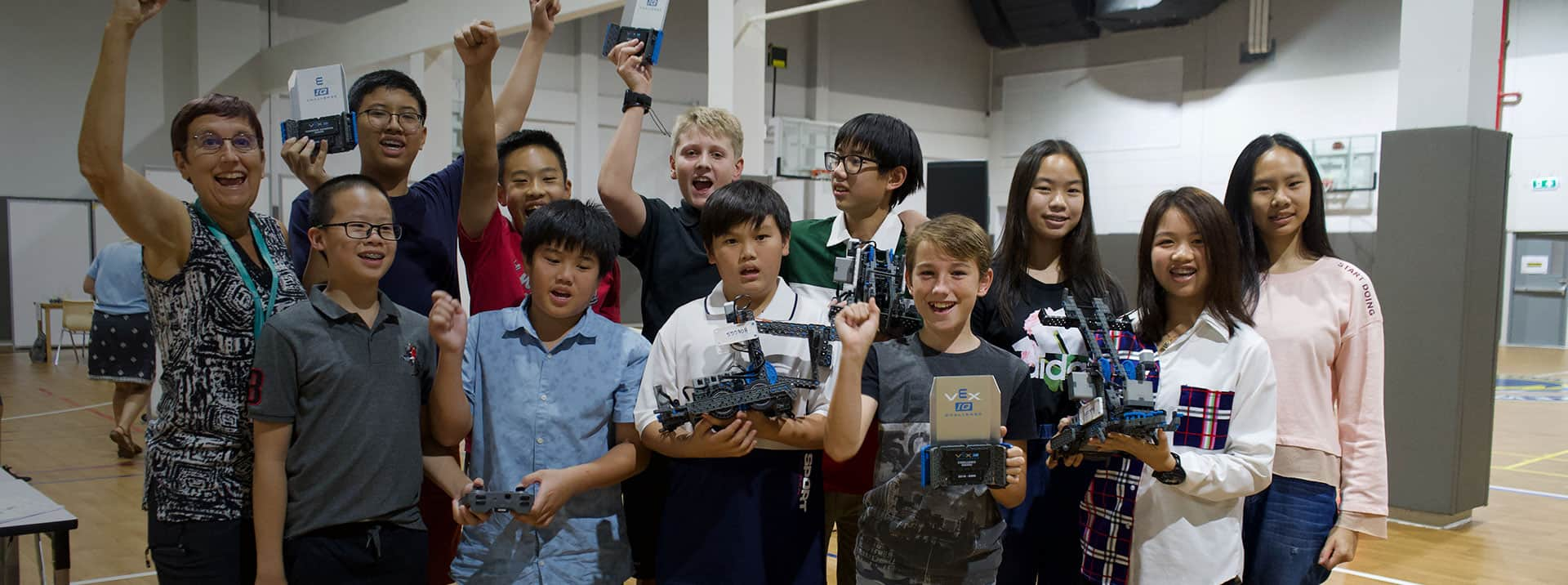 "DBS Denla British School Students Crowned Robotics Champions and Represent Thailand in ""The 2020 VEX Robotics World Championship"" in the USA!"