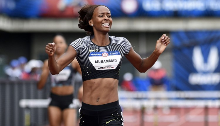Muhammad Leads Strong Prefontaine Classic Women's 400mH Field