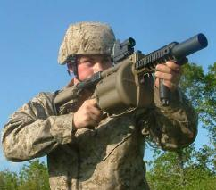 Milkor MGL-140 in action.