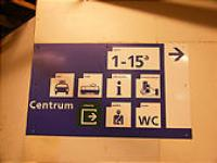 アムステルダム駅 案内板