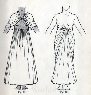 Egyptian skirts and cape. How to wear ancient Egypt costumes.