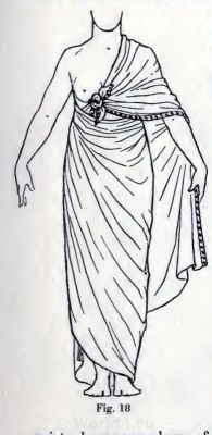 Simple Shawl Drapery. How to wear ancient Egypt costumes from 1600 B.C..