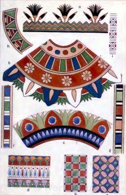 Ancient Egypt fabrics and dress decoration