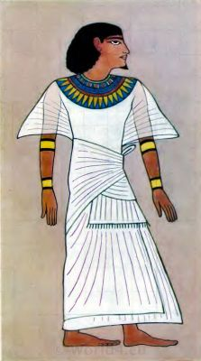Ancient Egypt costume. A Scribe. How to wear ancient Egypt costumes.