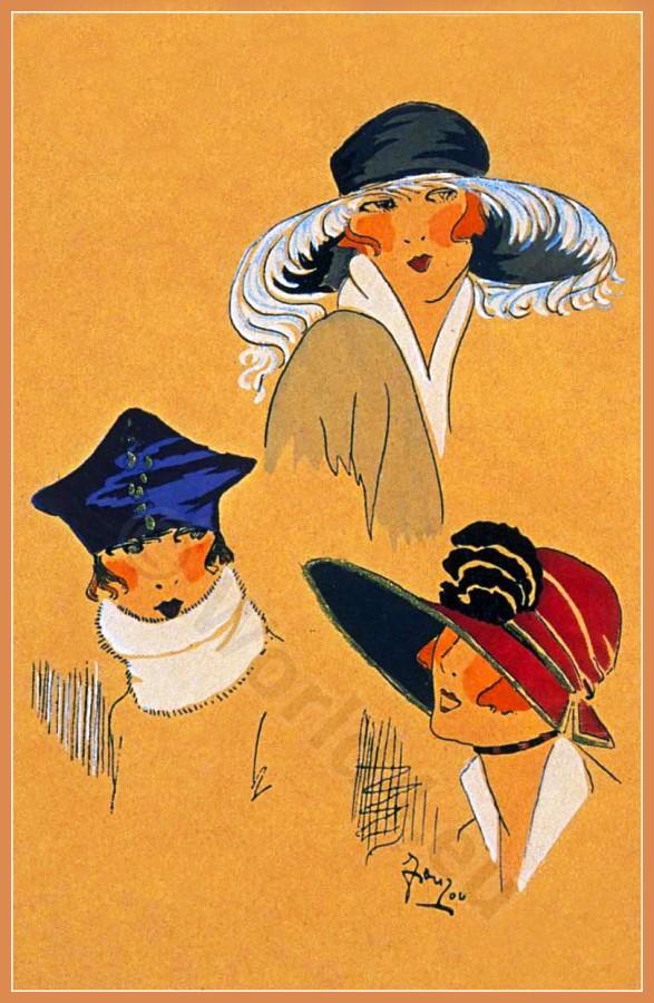 FLEURS D'ÉLÉGANCES, Chapeaux, Très Parisien, Art deco, Art-deco, headdress, hat, fashion