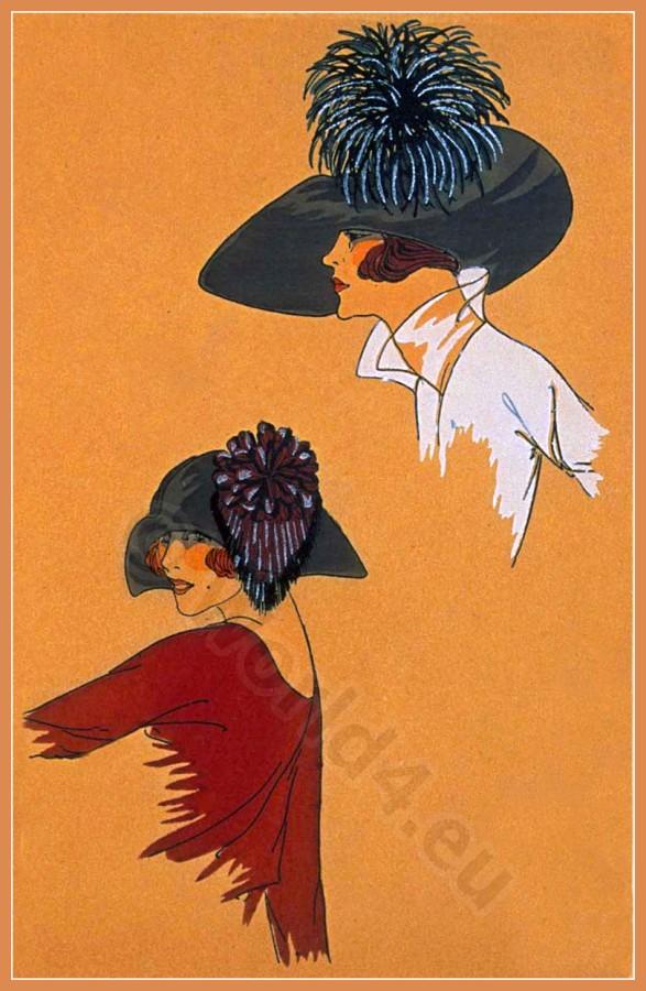 Cora Marson, Chapeaux, Très Parisien, Art deco, Art-deco, headdress, hat, fashion